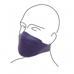 Non-medical protective face mask with filter fleece