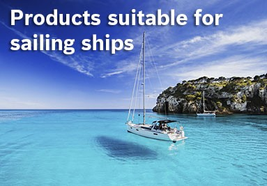 Products suitable for sailing ships